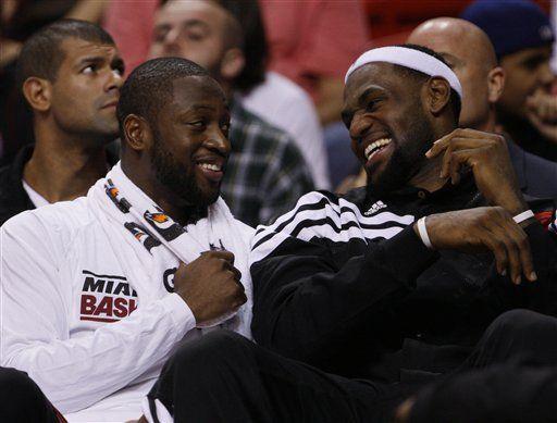 Wade y James dicen que ahora son más amigos