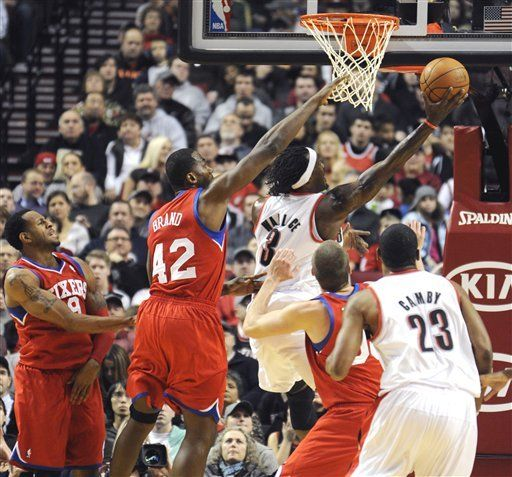 NBA: Blazers 107, 76ers 103; Aldridge lidera ofensiva de Portland