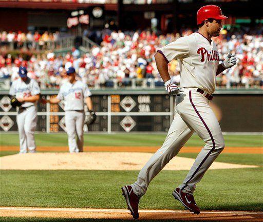 MLB: Filis 9, Dodgers 2; Burrell remolca 5