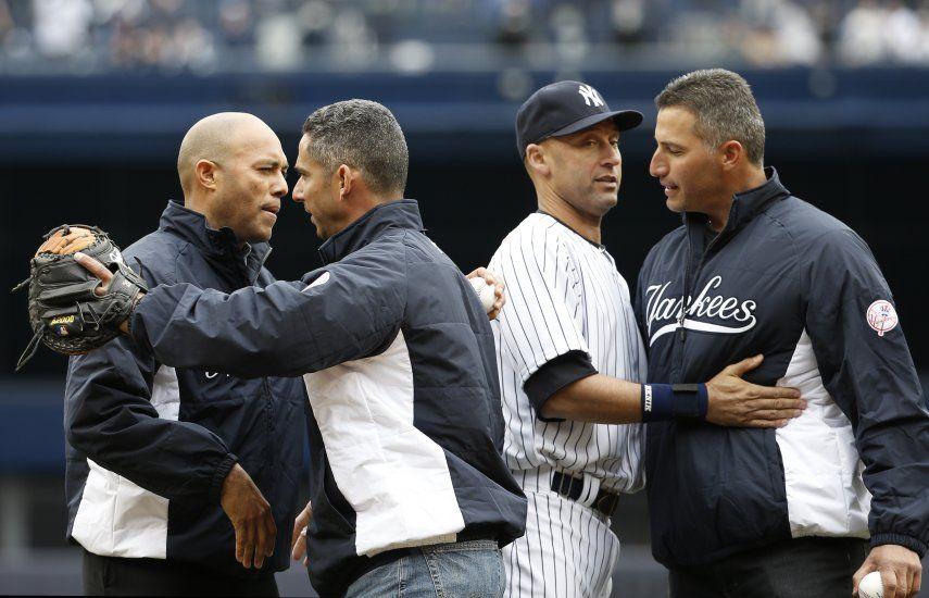 Jeter inicia su adiós al Bronx, Mariano y Pettitte presentes en el Yankee Stadium