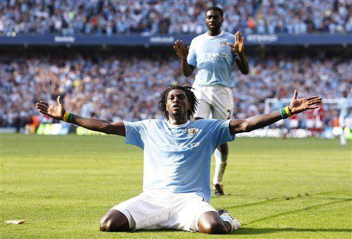 Adebayor se salva de suspensión por celebración de gol
