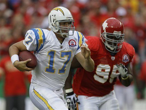 NFL: Chargers 37, Chiefs 7; Rivers, tres touchdowns por pase