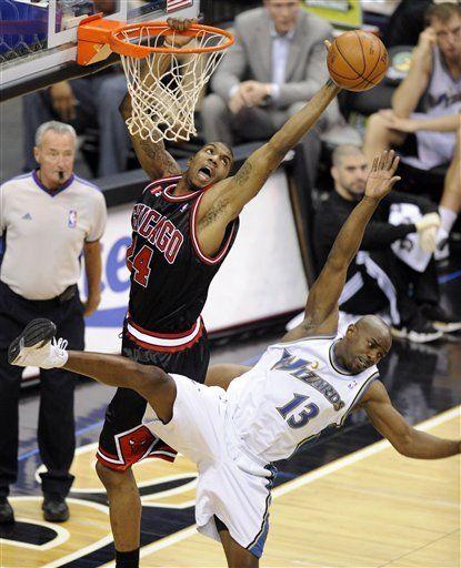 NBA: Bulls 101, Wizards 99