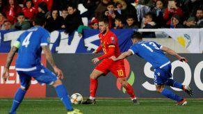 Bélgica gana en Chipre y sigue rumbo hacia la Eurocopa-2020