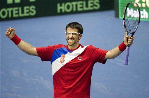 Davis: Serbia derrota a Suecia en cuartos de final