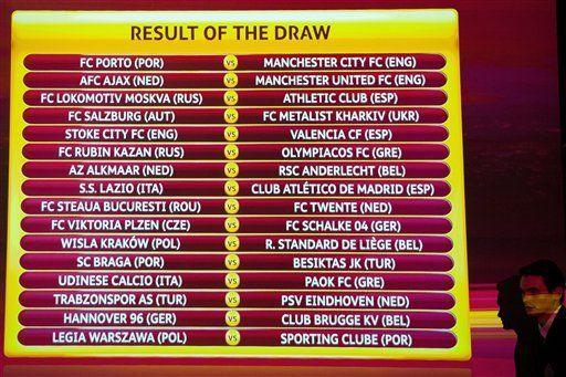 Manchester United enfrentará a Ajax en Liga Europa