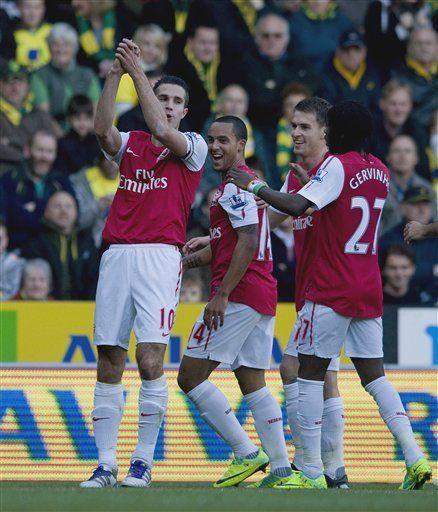 Inglaterra: Arsenal supera 2-1 a Norwich