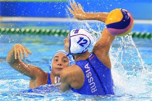 Rusia vence a Italia y gana bronce en polo acuático femenil