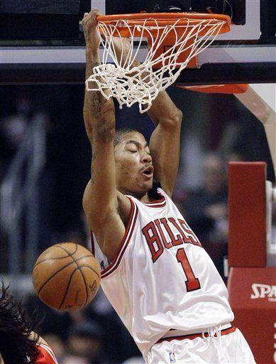 Bulls vencen a Rockets con 22 puntos de Rose en 4to período