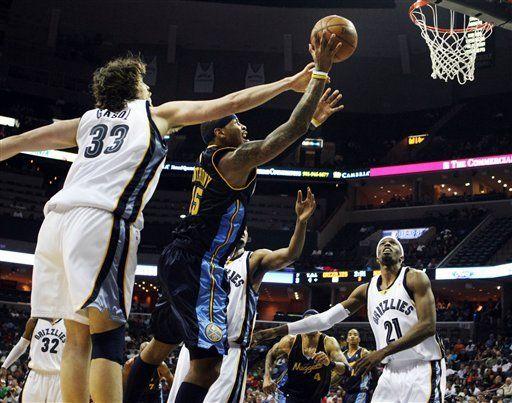NBA: Nuggets 111, Grizzlies 109; Nené aporta 19 puntos
