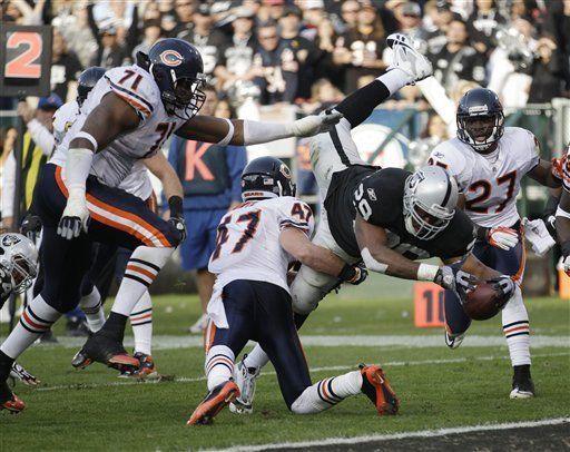 NFL: Raiders 25, Bears 20; Janikowski suma 6 goles de campo