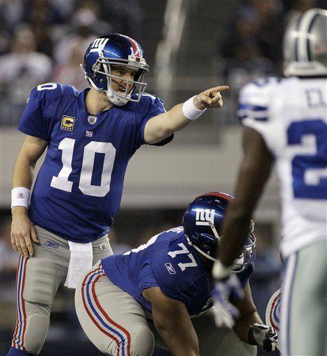 NFL: Giants 37, Cowboys 34; Manning da victoria a Giants