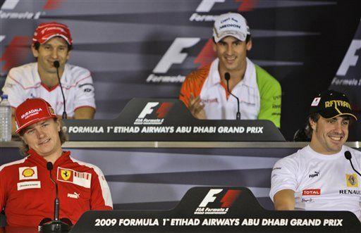 F1: Trulli y Sutil discuten en conferencia de prensa