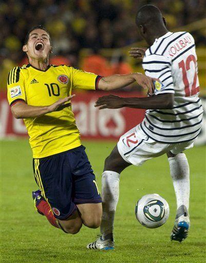 Sub20: James Rodríguez se lastima una mano