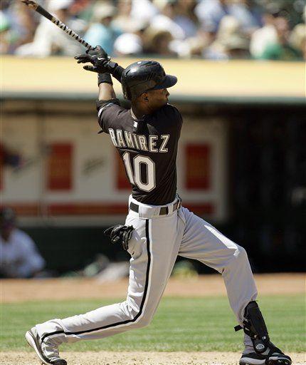 MLB: Medias Blancas 13, Atléticos 1; grand slam de Ramírez
