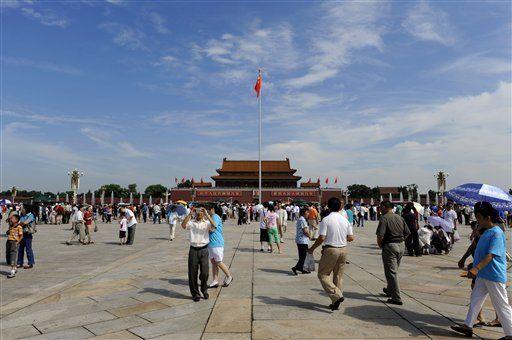 Un día de sol, cielos azules y aire limpio en Beijing