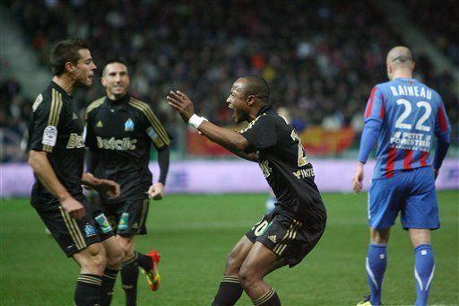 Marsella vence 2-1 a Caen en la liga francesa
