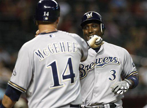 MLB: Cerveceros 11, Diamondbacks 3; Betancourt pega dos jonrones