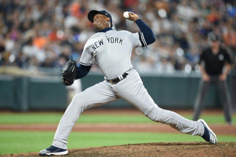 Con cinco jonrones y cerrojo efectivo del taponero Chapman los Yankees vencen a los Orioles