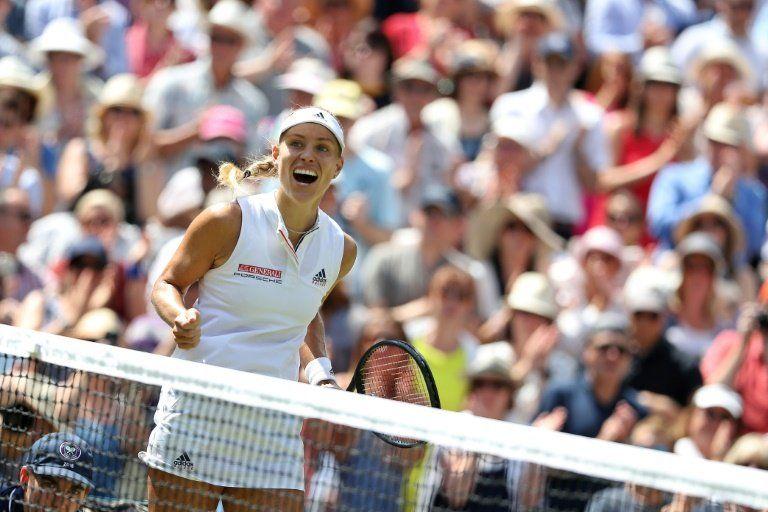 Kerber gana a Ostapenko y jugará la final de Wimbledon