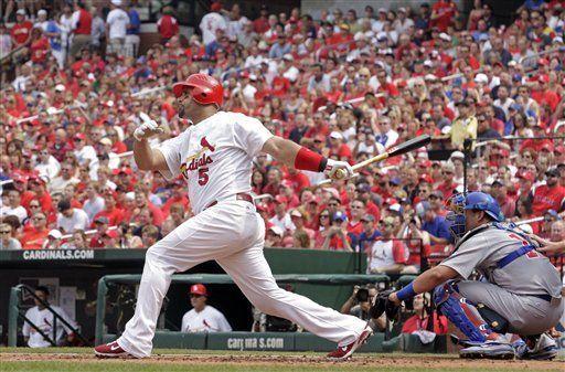 MLB: Cardenales 13, Cachorros 5; Pujols suena de cuadrangular