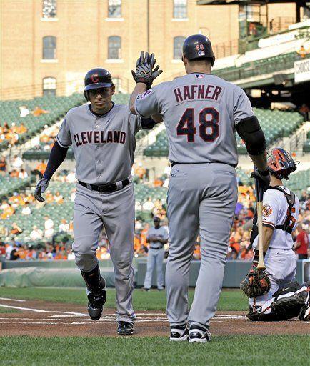 MLB: Indios 8, Orioles 4; jonrones de Cabrera y Santana