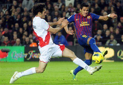 Alexis maravilla con doblete en goleada del Barcelona al Rayo