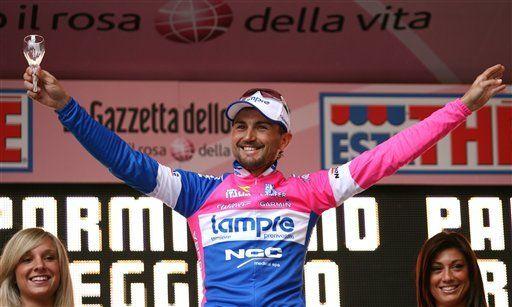 Giro: Bruseghin gana 10ma etapa; Visconti sigue como líder