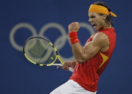 Nadal y Dementieva se coronan en el tenis