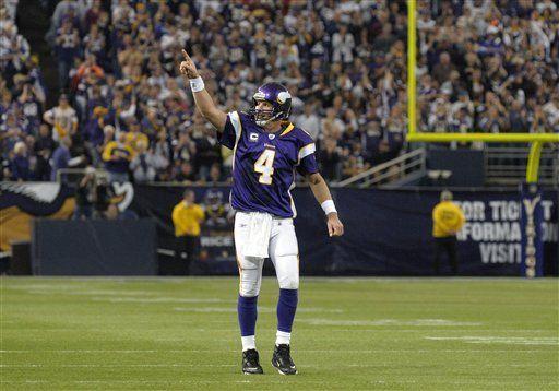 NFL: Vikings 33, Ravens 31. Favre lleva al triunfo a Vikings