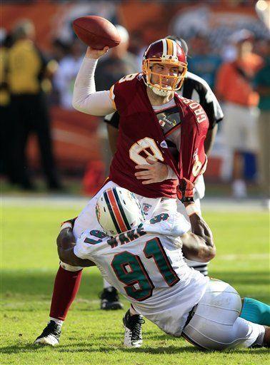 NFL: Dolphins 20, Redskins 9; Miami corta mala racha de local