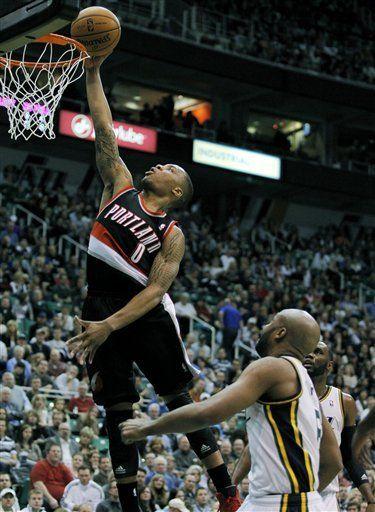 Jefferson encabeza ataque del Jazz contra Blazers