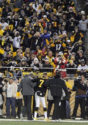 NFL: Steelers 14, Browns 3; Roethlisberger juega lesionado