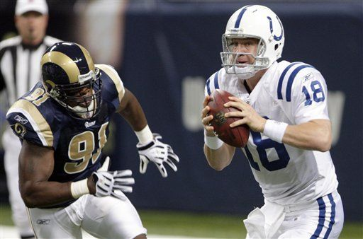 NFL: Colts 42, Rams 6; Manning luce ante Rams