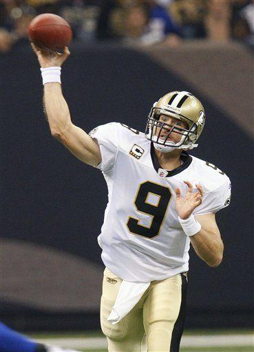 NFL: Saints 48, Giants 27; Brees lanza para cuatro touchdowns