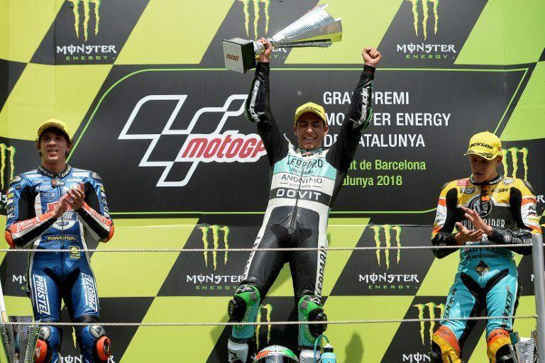 Bastianini vence en Moto3 de Gran Premio de Cataluña, Bezzechi amplía su ventaja