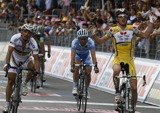 Giro: Ricco gana 8va etapa; colombiano Cárdenas décimo