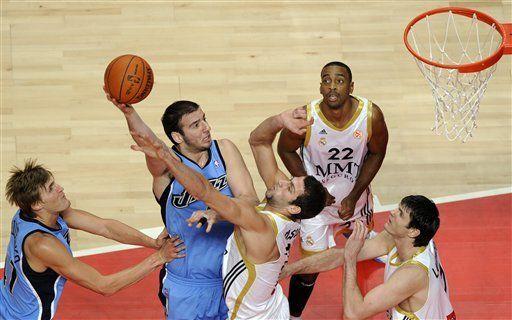 Jazz apalea al Real Madrid en el cierre de gira de NBA por Europa