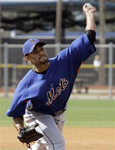 Johan Santana lanza práctica de bateo con los Mets