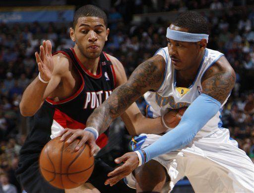 NBA: Nuggets 106, Trail Blazers 90; Anthony obedece y anota