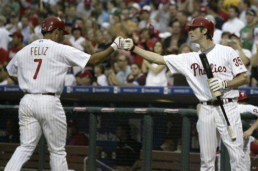 MLB: Filis 5, Bravos 0; jonrón de Feliz