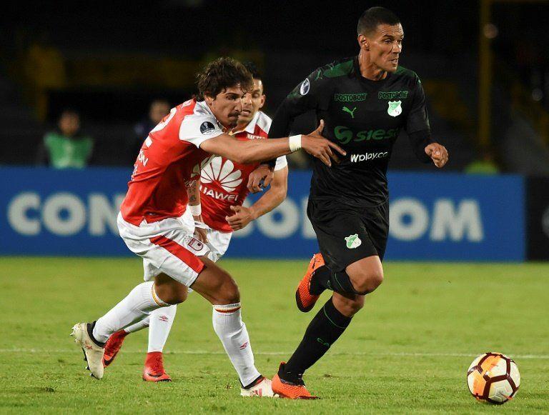 Santa Fe y Cali empatan en el partido que inauguró el VAR en la Copa Sudamericana