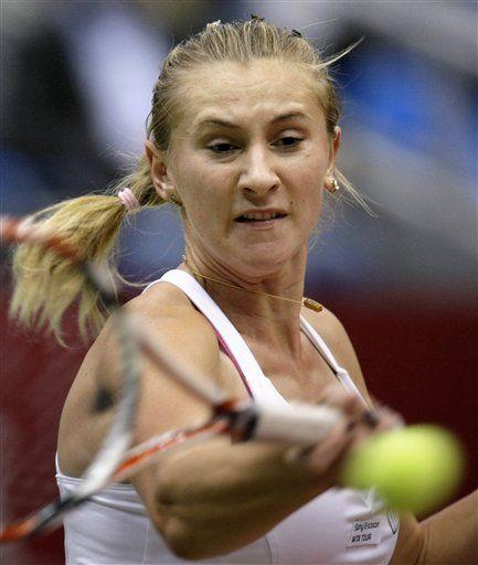 Schiavone y Govortsova en la final de la Copa Kremlin