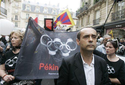 Abundan protestas contra China en inauguración de Olimpiadas
