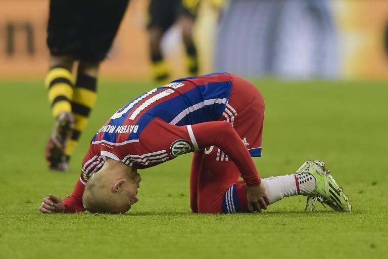 El Bayern recibe un duro golpe con las lesiones de Robben y Lewandowski