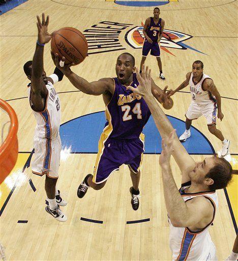 NBA: Lakers 107, Thunder 89; Bryant mete 19 puntos