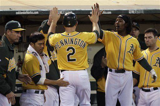 MLB: Atléticos 6, Rays 1; Pennington conecta tres imparables