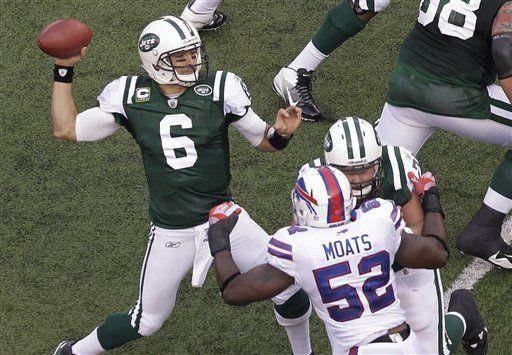 NFL: Jets 28, Bills 24; Sánchez mantiene en pie a NY