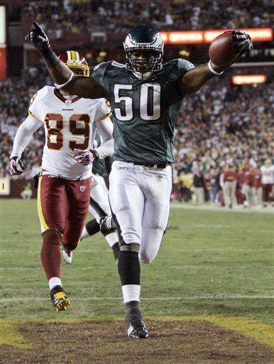 NFL: Eagles 27, Redskins 17; Jackson, dos touchdowns para Eagles