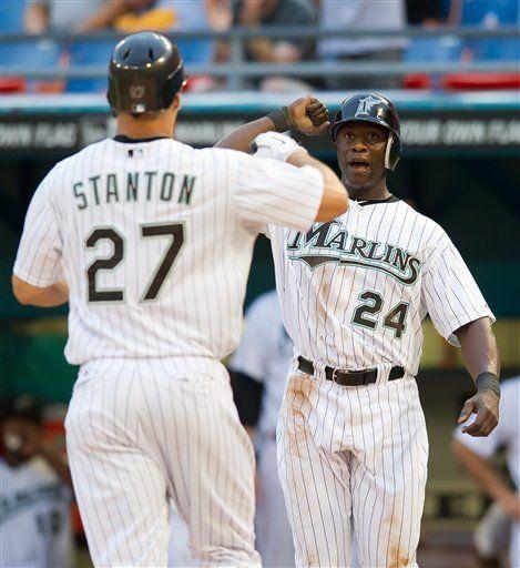 MLB: Marlins 5, Astros 0; Stanton y Hand guían a Florida
